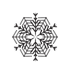 Snowflake icon isolated on white background vector