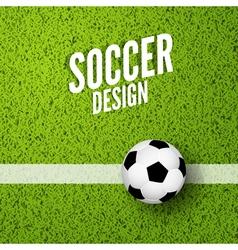 Soccer background witn green grass Football sport vector image