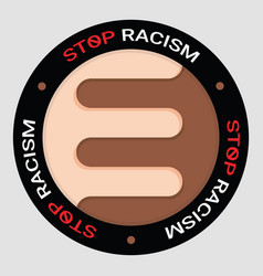 social problems humanity equality stop racism vector image