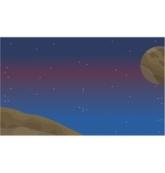 Space element landscape at night vector