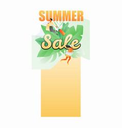 summer sale vertical banner vector image