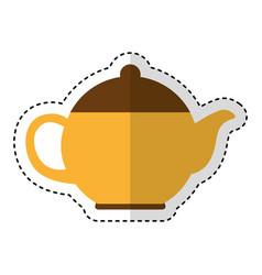 Teapot kitchen utensil icon vector