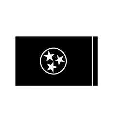 tennessee tn state flag united states america vector image