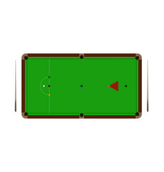 top view of realistic snooker table with balls vector image