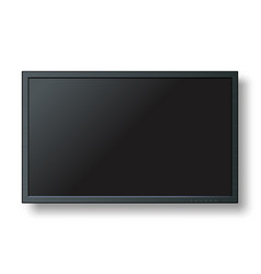 tv modern blank screen lcd led isolate on vector image