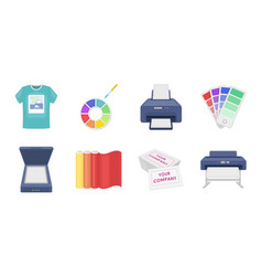 Typographical products icons in set collection for vector