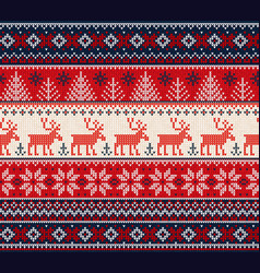 ugly sweater merry christmas happy new year vector image
