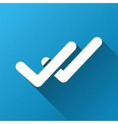 Validation Gradient Square Icon vector
