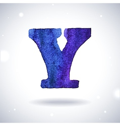 Watercolor letter Y vector image
