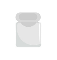 white dental floss icon flat style vector image