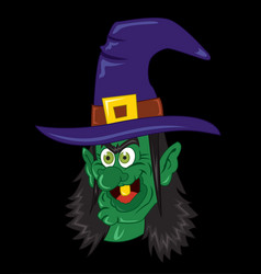 witch halloween clip art vector image