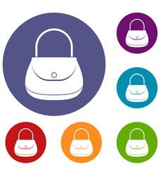 woman bag icons set vector image