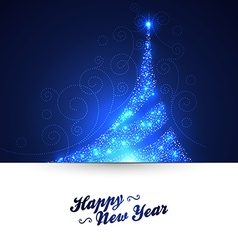 Xmas tree glowing background vector image