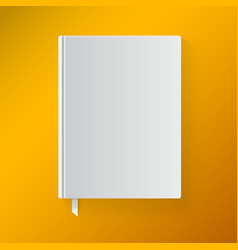 Blank book cover with a bookmark Object for design vector image vector image