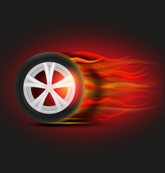 burning tyre image vector image vector image