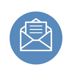 Receive mail icon in blue circle vector image vector image