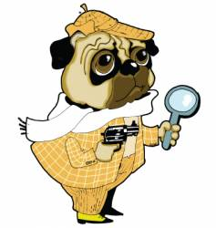 sherlock holmes dog vector image