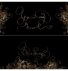 Two design card with original hand lettering vector image vector image