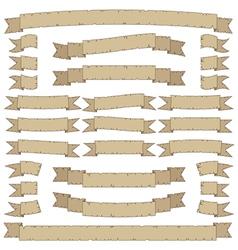 vintage ribbons vector image vector image