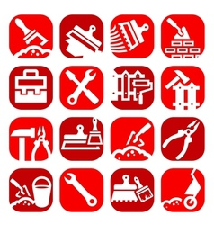 color construction and repair icons set vector image