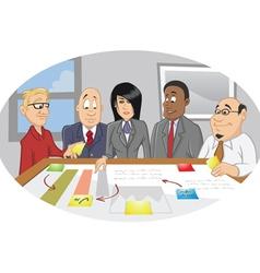office employee brainstorming vector image