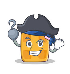 pirate waffle character cartoon design vector image vector image