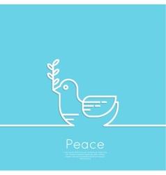 Symbol of peace dove vector