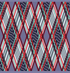 tartan seamless rhombus texture in many colors vector image