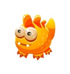 Yellow Fantastic Friendly Pet Wingess Dragon vector image vector image