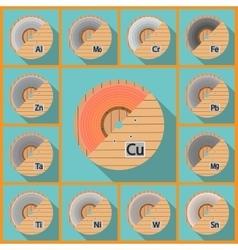 Coil sheet flat vector