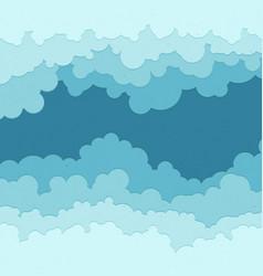 Flat cloud frame set of circle blue vector