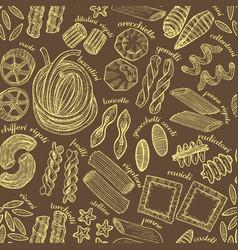 hand drawn dark pasta background vector image vector image