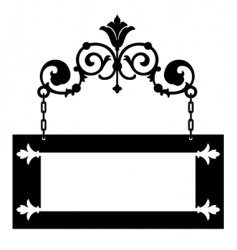 iron hanging sign vector image vector image