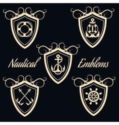 Nautical Signboards Set vector image