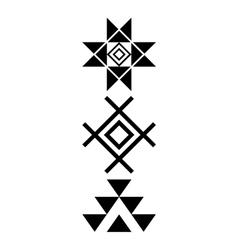 Navajo print aztec pattern tribal design native vector