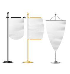 realistic small table flag set isolated on vector image