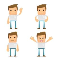 set of funny cartoon casual man vector image