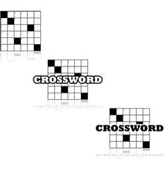 Crossword icons vector image
