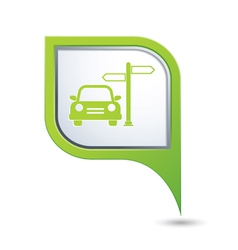 Direct car green pointer vector