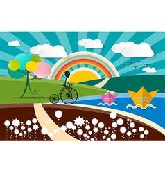 Landscape - Abstract Cartoon vector image