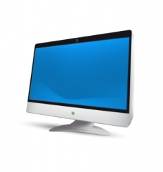 LCD monitor illustration vector image vector image