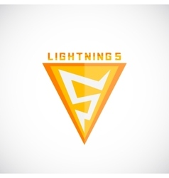 Lightning Symbol as a Five Numeral Abstract vector image