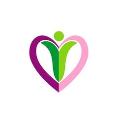love sign woman beauty logo vector image