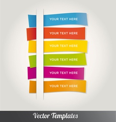 Template Design Colorful vector image