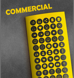 1commercial icons vector image