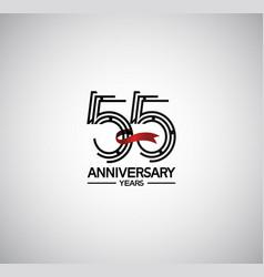 55 years anniversary logotype flat design vector