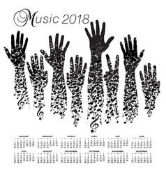 a creative 2018 musical calendar vector image