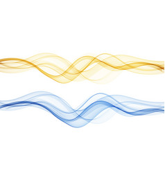 abstract colorful flowing gold wave lines vector image