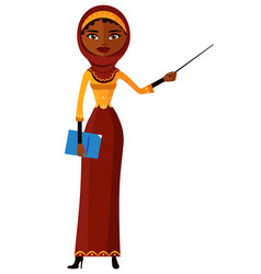 african arab saudi muslim attractive young lady vector image