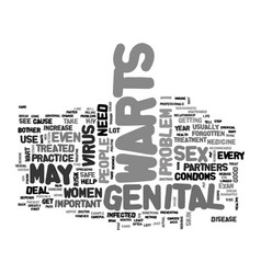 Are genital wart serious text word cloud concept vector